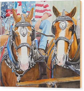 Everybody Loves A Parade Wood Print by Ally Benbrook