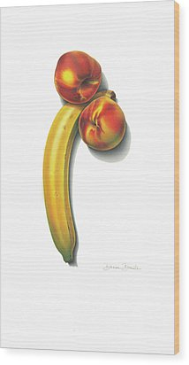 Eve's Favorite Fruit Wood Print by Donna Basile