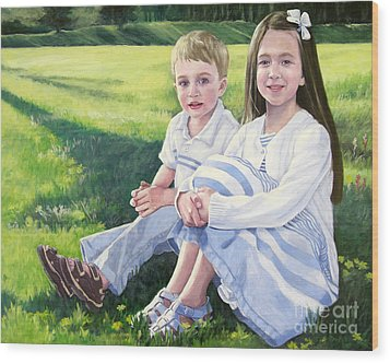 Evie And Kenneth Wood Print