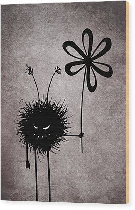 Evil Flower Bug Wood Print