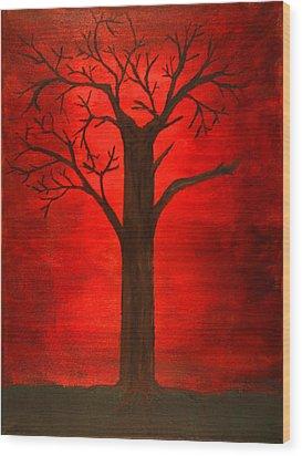 Evil Tree Wood Print
