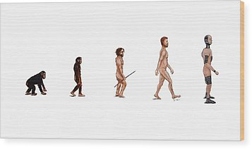Evolution Of Rob Wood Print by Jennifer Lynch