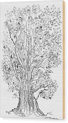Evolutionary Tree Wood Print by Regina Valluzzi