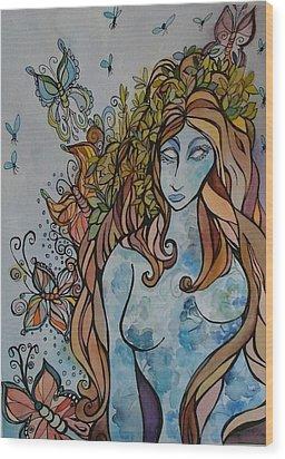 Evolve Wood Print by Claudia Cole Meek