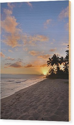 Ewa Beach Sunset 2 - Oahu Hawaii Wood Print by Brian Harig