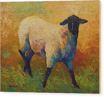Ewe Portrait Iv Wood Print