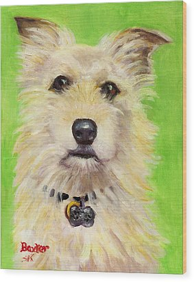 Example Of Pet Portrait Wood Print by Sheila Kinsey