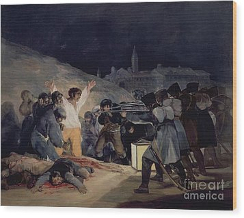 Execution Of The Defenders Of Madrid Wood Print by Goya