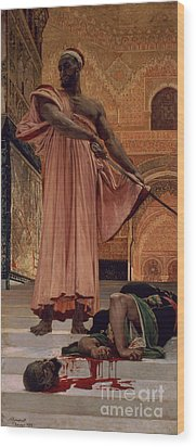 Execution Without Trial Under The Moorish Kings In Granada Wood Print by Henri Alexandre Georges Regnault