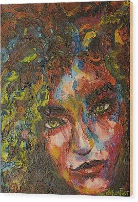 Exhilarating Darkness Wood Print by Alice Fairbank Furr