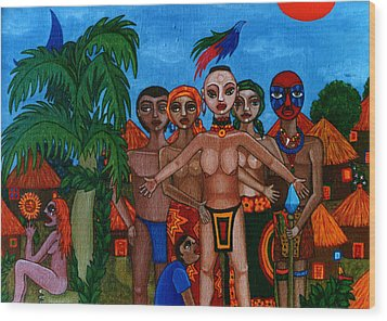 Exiled In Homeland Wood Print by Madalena Lobao-Tello