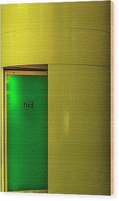 Exit Wood Print by Paul Wear