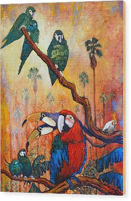 Exotic Birds Of South America  Wood Print