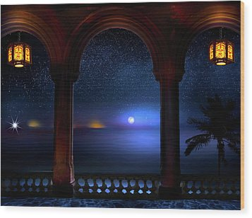 Wood Print featuring the photograph Exotic Night by Mark Andrew Thomas