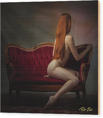 Expectation Wood Print by Rikk Flohr