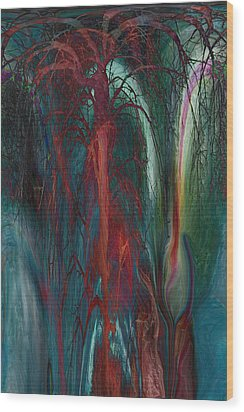 Experimental Tree Wood Print by Linda Sannuti