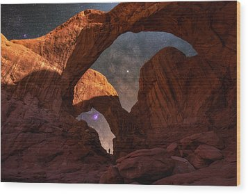 Wood Print featuring the photograph Explore The Night by Darren White