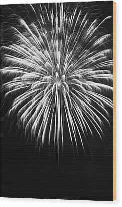 Explosion Wood Print by Colleen Coccia