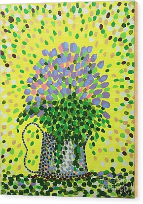 Explosive Flowers Wood Print by Alan Hogan