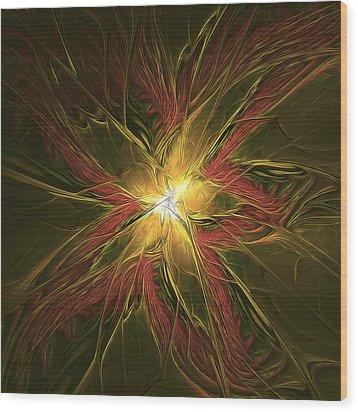 Explosive New Star Wood Print by Deborah Benoit