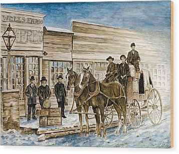 Expressly Western Wood Print by Traci Goebel