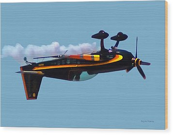Extra 300s Stunt Plane Wood Print by DigiArt Diaries by Vicky B Fuller