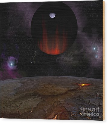 Extrasolar Planet Hd149026b Wood Print