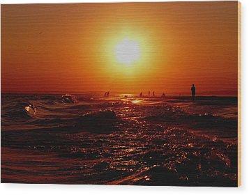 Extreme Blazing Sun Wood Print