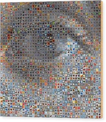 Eye 1  Wood Print by Boy Sees Hearts