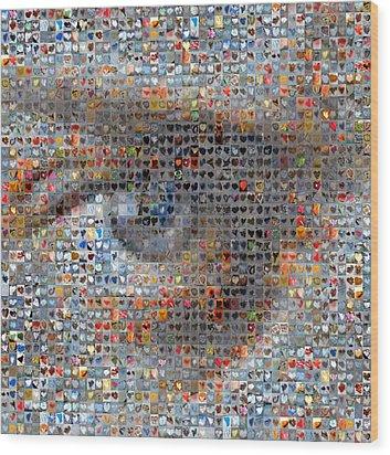 Eye 2 Wood Print by Boy Sees Hearts
