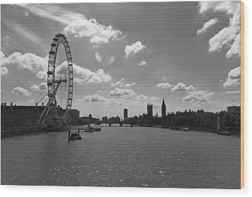 Eye And Parliament Wood Print by Maj Seda