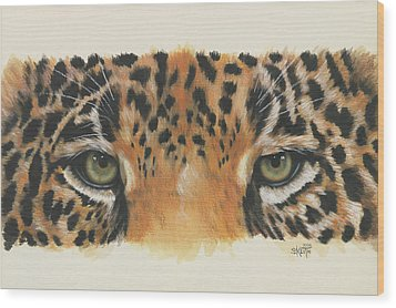 Eye-catching Jaguar Wood Print by Barbara Keith
