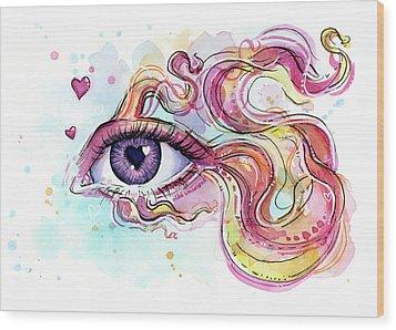 Eye Fish Surreal Betta Wood Print
