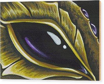 Eye Of Deep Amethyst Wood Print by Elaina  Wagner