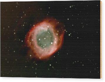 Eye Of God Helix Nebula Wood Print by Jim DeLillo