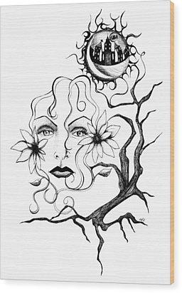 Eye Of The Beholder Wood Print by Shawna Rowe