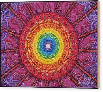 Eye Of The Chakra Storm Wood Print