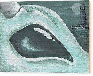 Eye Of The Coast Dragon Wood Print by Elaina  Wagner