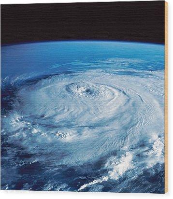 Eye Of The Hurricane Wood Print by Stocktrek Images
