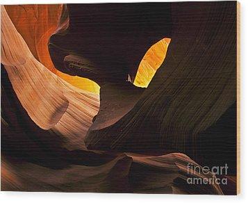 Eye Of The Needle Wood Print by Mike  Dawson