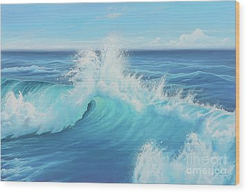 Eye Of The Ocean Wood Print by Joe Mandrick