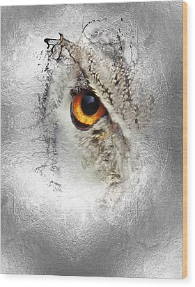 Wood Print featuring the photograph Eye Of The Owl 1 by Fran Riley