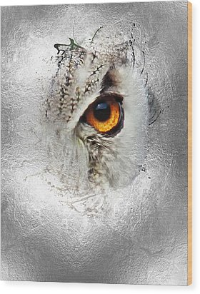 Wood Print featuring the photograph Eye Of The Owl 2 by Fran Riley