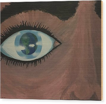 Wood Print featuring the painting Eye Of The World by Thomas Blood