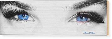 Wood Print featuring the photograph Eye Sea  by Shana Rowe Jackson