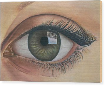 Eye - The Window Of The Soul Wood Print