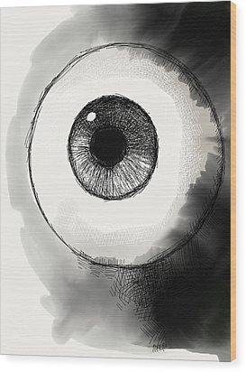 Eyeball Wood Print by Antonio Romero