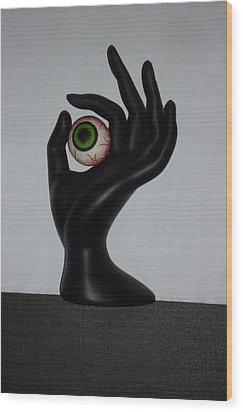 Eyehand Wood Print by Douglas Fromm