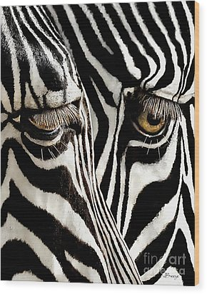 Eyes And Stripes Forever Wood Print by Jennie Breeze