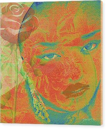 Eyes Of Nigeria Wood Print by Fania Simon